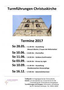 2017 Turmführungen Plakat