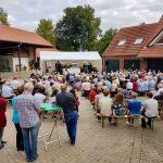 SommerFerienGottesdienst der Ev. Kirchengemeinde Ibbenbüren bei Moriss Obstplantagen, 2018.