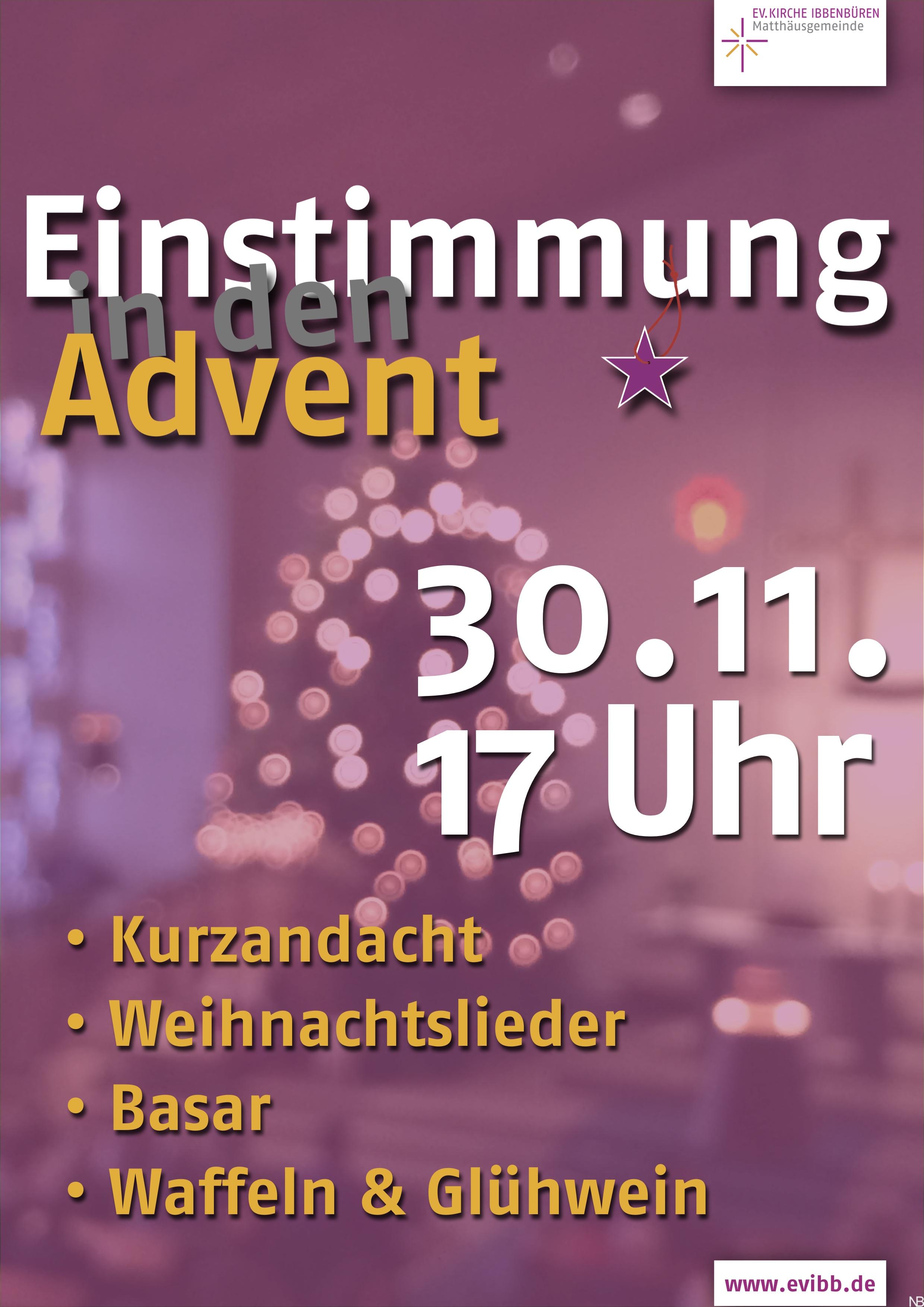 20161125_Einstimmung Advent Plakat evibb