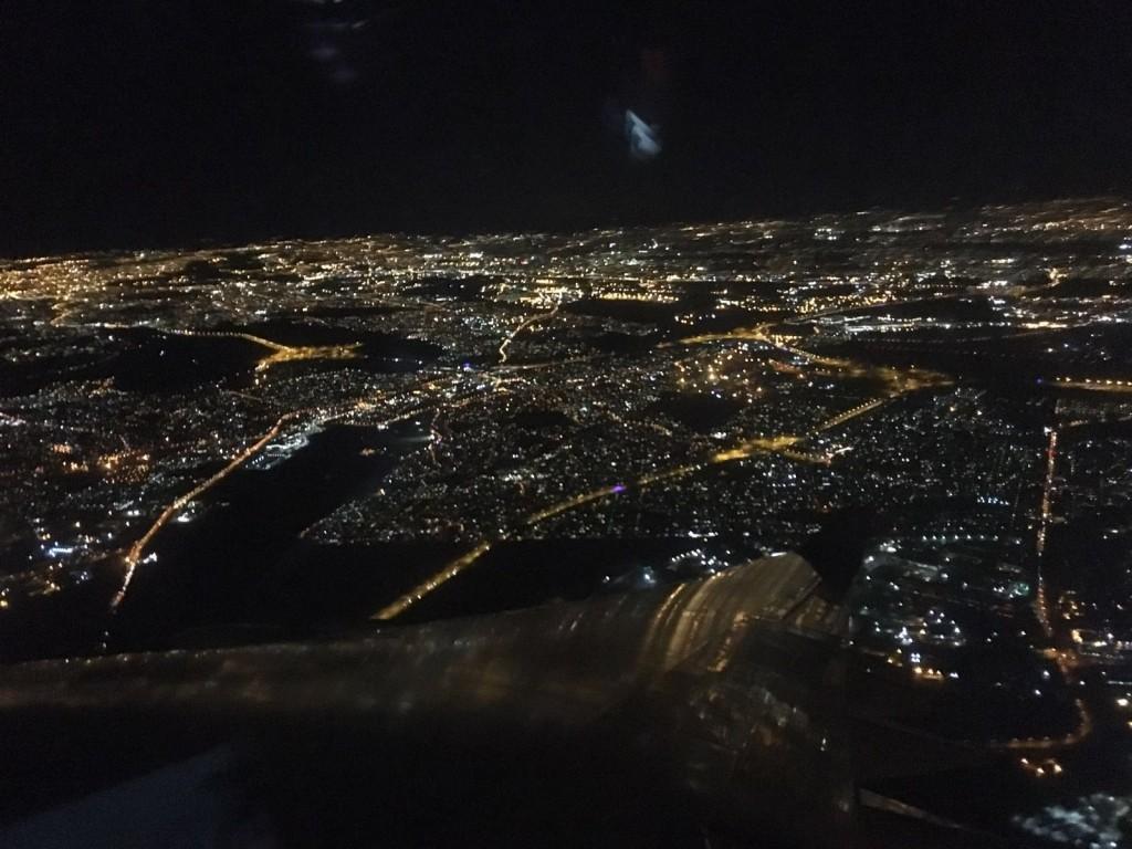 Nacht über Johannesburg.
