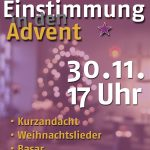 20161125_Einstimmung Advent Plakat evibb